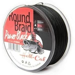 Hell-Cat Splétaná šňůra Round Braid Power Black 200m - 0,70mm