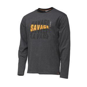 Savage Gear Triko Simply Savage Logo Tee Long Sleeve - M