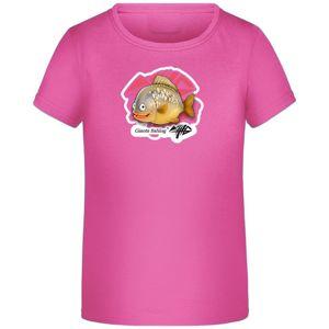 Giants Fishing Tričko dívčí s kapříkem růžové