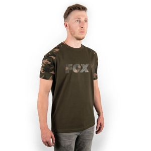 Fox Triko Camo/Khaki Chest Print T-Shirt - M