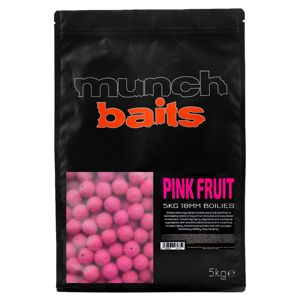 Munch Baits Boilie Visual Range Pink Fruit - 18mm  5kg