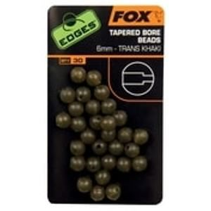 Fox Gumové korálky Edges Tapered Bore Beads 6mm 30ks